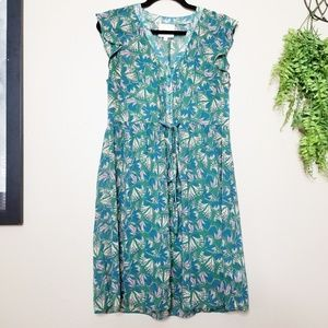 Modcloth Expert in Your Zeal Green Butterfly Dress